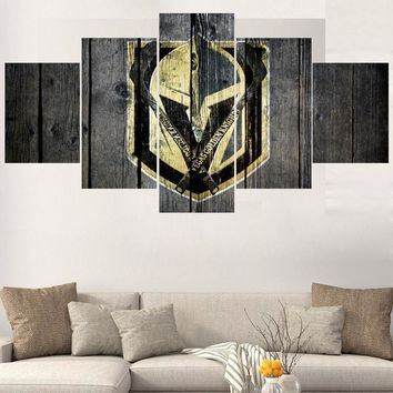 Vegas Golden Knights 5 pcs canvas panel wall art picture poster for game or bedr