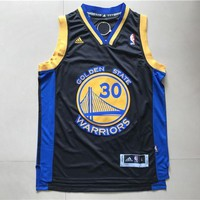 Golden State Warriors Steph Curry #30 Swingman Jersey Black