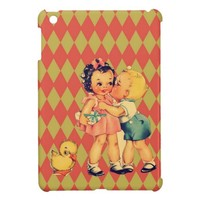 art cute retro children vintage school kids case for iPad mini