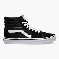 Vans Sk8-Hi Mens Shoes Black/White  In Sizes
