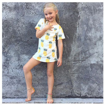 Pineapple Pattern Summer Fashion Style Lovely baby Gift = 4697512708