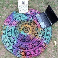 Round Beach Towel Tapestry Blanket