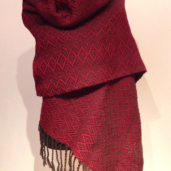 "Pre-order, Hand woven ""Autumn""- Shawl, scarf, throw, blanket, wool"