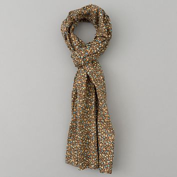 Lightweight All-Over Floral Print Scarf, Brown
