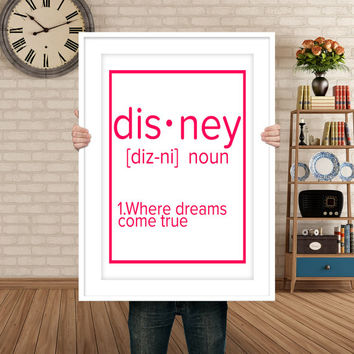 Typography print, Printable art DISNEY disney art children room decor instant download