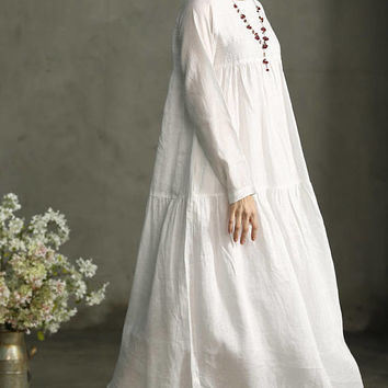0811da359ef Shop Linen Wedding Dress on Wanelo
