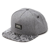 Vans Off The Wall Men's Walmer Snapback Hat Cap - Gray