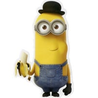 Minions Kevin Banana Sticker