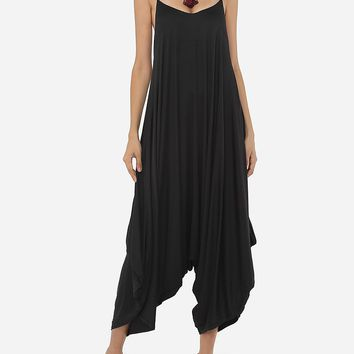 Plain Loose Fitting Modern Awesome Jumpsuits