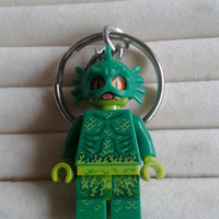 Swamp Creature keychain keyring  made with LEGO® Monster fighters minifigure