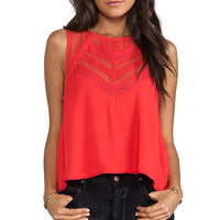 Free People Shellshock Top in Poppy Red from REVOLVEclothing.com