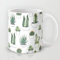 watercolour cacti and succulent Mug by Vicky Webb