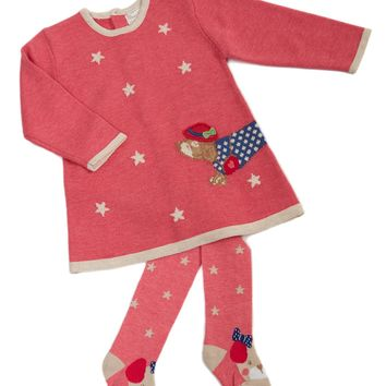 Mayoral Baby Girl Strawberry Knit Dress & Leggings