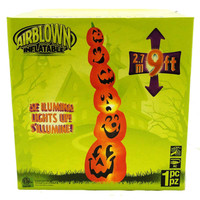 Halloween Tall Stacked Pumpkins Halloween Outdoor Decor