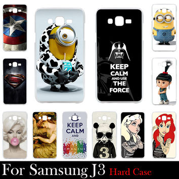 For Samsung Galaxy J3 Case Hard Plastic Cellphone Mask Case Protective Cover Housing Skin Mask Shipping Free