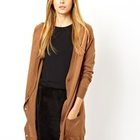 ASOS Long Cardigan In Fine Knit - Camel $20.95