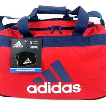 adidas Diablo Small II Duffel Bag (University Red/Collegiate Navy Blue/White) Gear Travel Tote