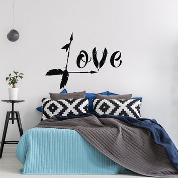 Love Arrow Decal Family Decor- Boho Wall Decal Arrow Decor- Love Wall Decal Bedroom Nursery Decor- Loved Arrow Wall Art Wedding Decor #78