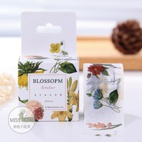 3cm*10m Color Plant Flower Washi Tape LIFE STATIOMERY  Adhesive Tape DIY Scrapbooking Sticker Label Masking Tape