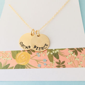 Personalized Mom Necklace, Gold Name Necklace, Custom Gold Filled Name Necklace, Kids Name Necklace
