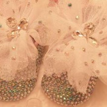 Baby Bling Crystal Newborn Baby Girl Handmade Shoes Booties