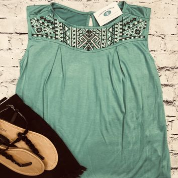 Head Over Heals Peasant Top in Teal