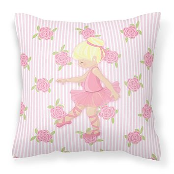 Ballerina Blonde Point Fabric Decorative Pillow BB5171PW1414