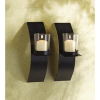 Mod-Art Votive Candle Sconce Duo