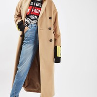 Double Breasted Slouch Coat - Jackets & Coats - Clothing
