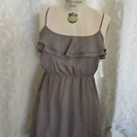 NEW Brown FOREVER 21 size medium Short DRESS summer spring time sundress