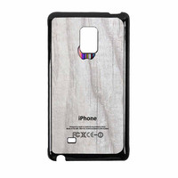 Apple Logo On White Wood Colorful Samsung Galaxy Note Edge Case