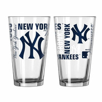 Boelter 16oz Spirit Pint Glass  New York Yankees