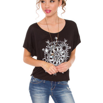 Solar Rhythm Top - Black