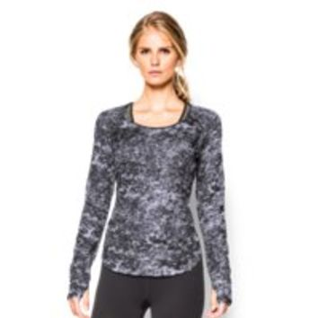 Under Armour Women's UA Fly-By Allover Printed Mesh Long Sleeve