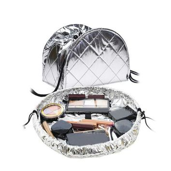 Magic Foiled Convertible Drawstring Makeup Bag