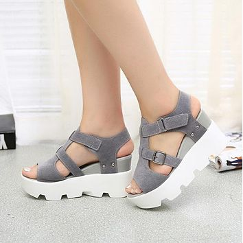 new Summer Women High Heel Casual Sandal size 75859