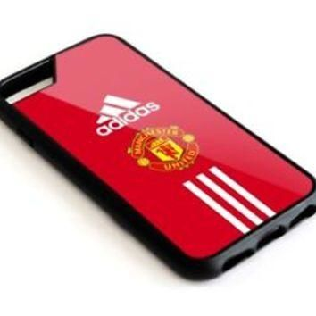Best-Adidas Manchester United Red iPhone 5 5s 6 6s 7 8 Plus SE Hard Plastic Case