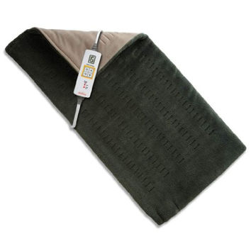 """Sunbeam 2013-912 Xpress Heat  Microplush Heating Pad for Quick Pain Relief,  Extra Large (12"""" x 24""""),Olive"""