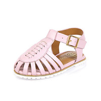Mini girls pink sandals