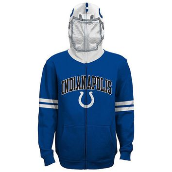 Indianapolis Colts Full-Zip Fleece Costume Hoodie - Boys 8-20 (Clt Blue)