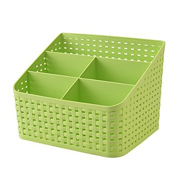 Fanmeili SN2245 Desktop Organizer Desk Storage Container, Green