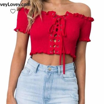 Simply Stunning Bowtie Lace Crop Top