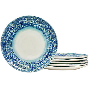 Tabletops Gallery® Castleware Set of 6 Melamine Dinner Plates - JCPenney