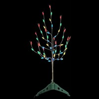 SheilaShrubs.com: 3 ft. Pre-Lit LED Artificial Christmas Tree with Multi Color Lights 20458X by Import Merchandising Conc: Christmas Trees