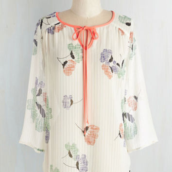 Vintage Inspired Mid-length 3 Artistic Aspirations Top by ModCloth