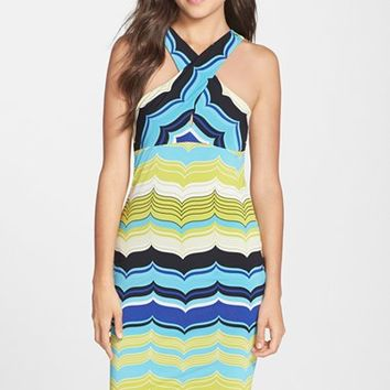 Women's Trina Trina Turk 'Rochelle' Stripe Jersey Body-Con Dress