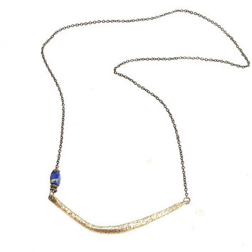 Jacqueline Rose Crescent with Lapis Necklace