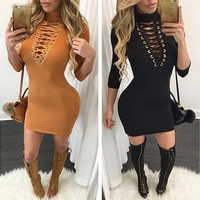 Sexy Women Fashion Slim Bandage Club Dress [9221900228]