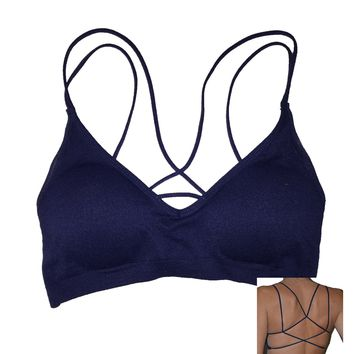 Navy Bra with Strappy Back