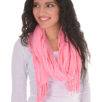 Never Give Up Scarf In Pink